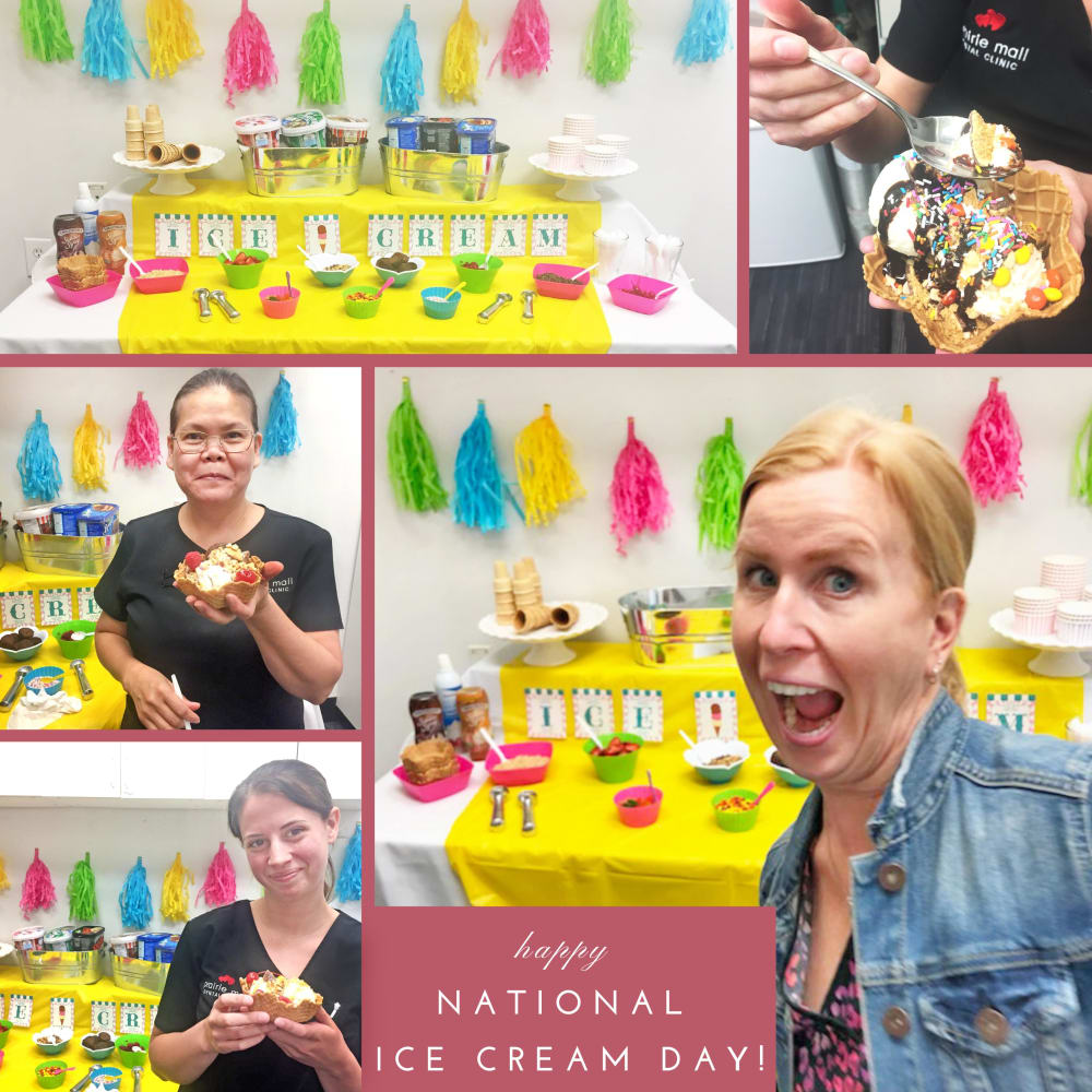 National Ice Cream Day at Prairie Mall Dental Clinic, Grande Prairie dentist